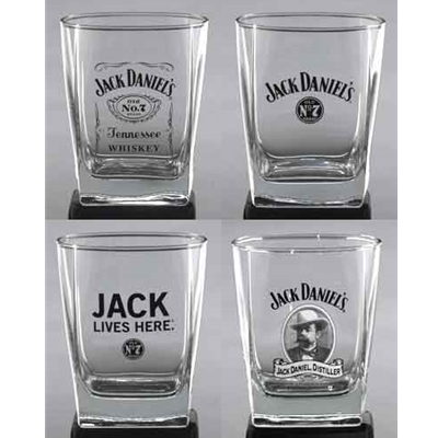 Jack Daniels Double Old Fashioned Set Of 4 Assorted